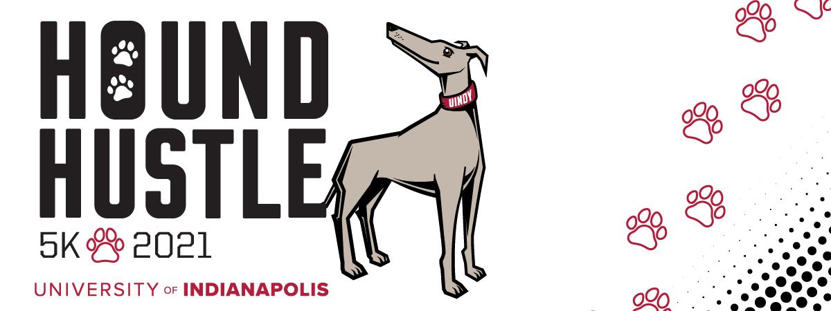 Hound Hustle 5k 2021 with Grady the Greyhound Image