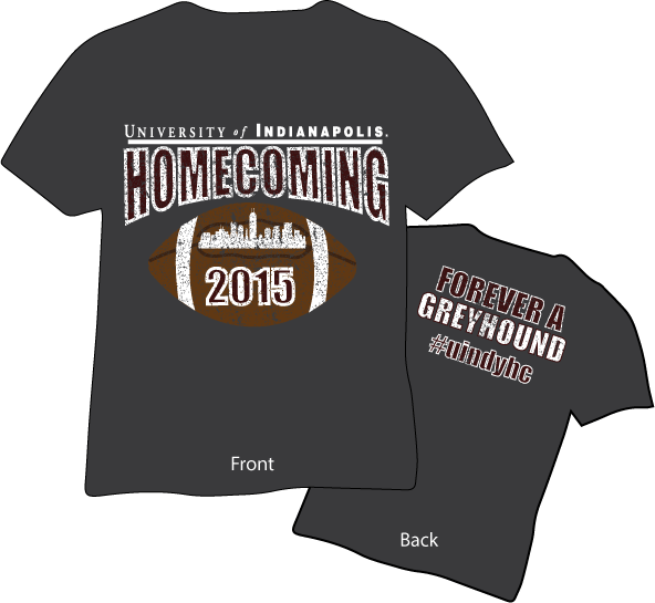 homecoming t shirts 2015 university of indianapolis