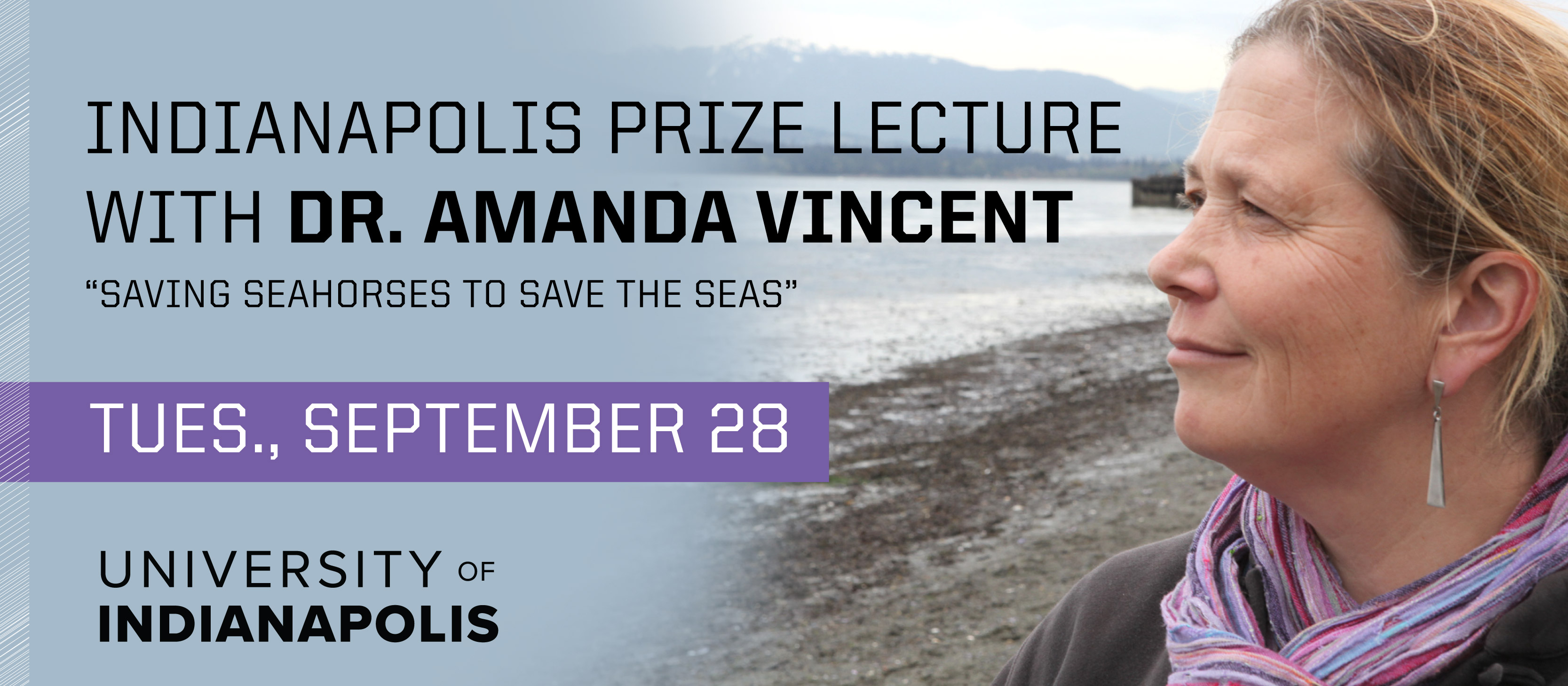 Indianapolis Prize Lecture with Dr. Amanda Vincent on Tuesday, September 28